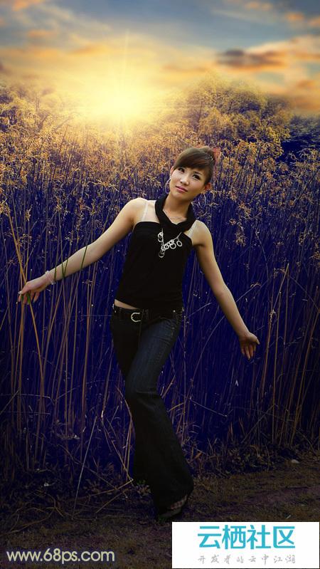 正文     photoshop山林外拍的人物加上秋季暗黄色霞光      素材图片
