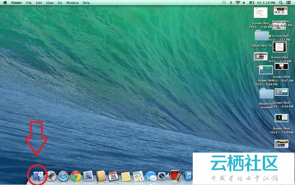如何在OS X Mavericks的Finder打开不同标签-os x mavericks