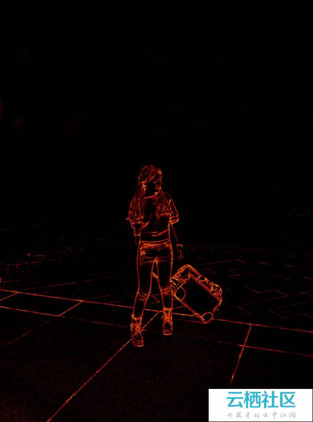 PS利用滤镜及素材快速把人物转为火焰人像-ps火焰滤镜