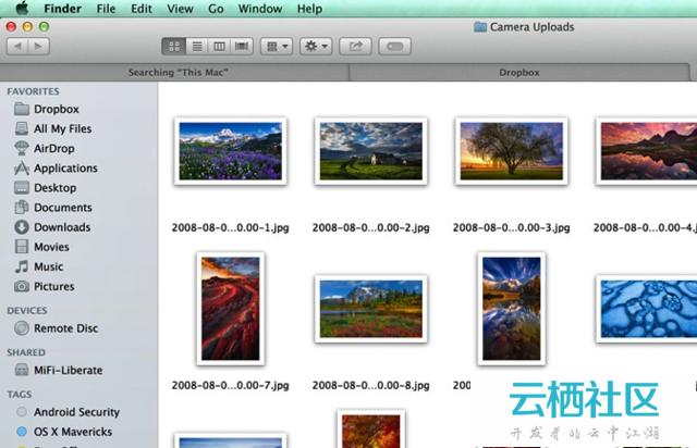 如何在OS X Mavericks的Finder打开不同标签-mac os mavericks