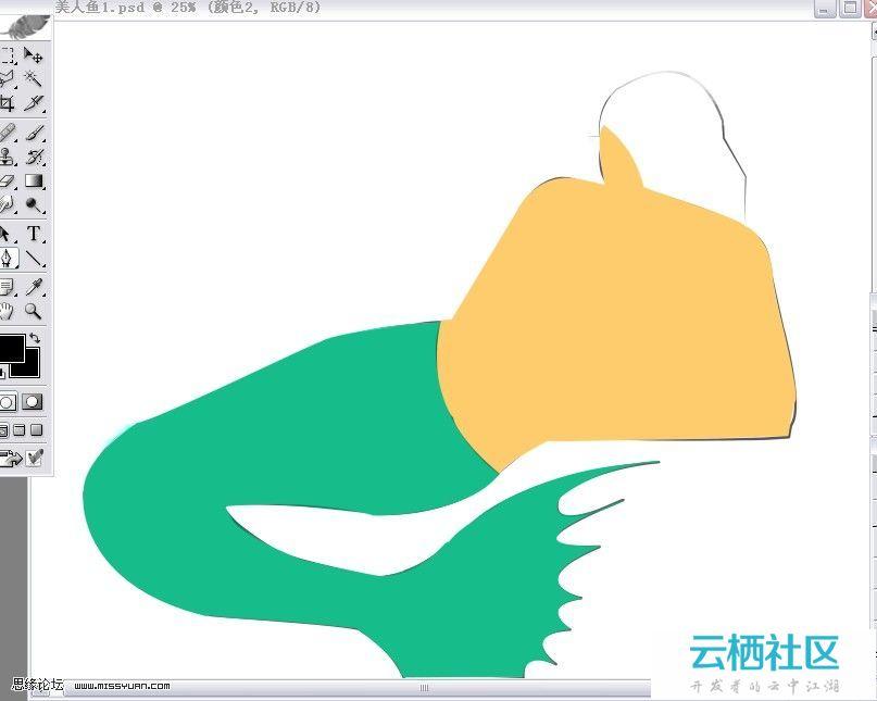 PS绘制逼真的美人鱼的精彩详细鼠绘教程-ps绘制逼真眼睛